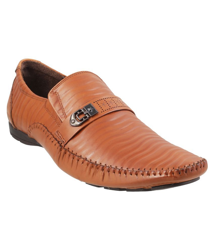 38ea8a365d2 J FONTINI Office Genuine Leather TAN Formal Shoes Price in India- Buy J  FONTINI Office Genuine Leather TAN Formal Shoes Online at Snapdeal