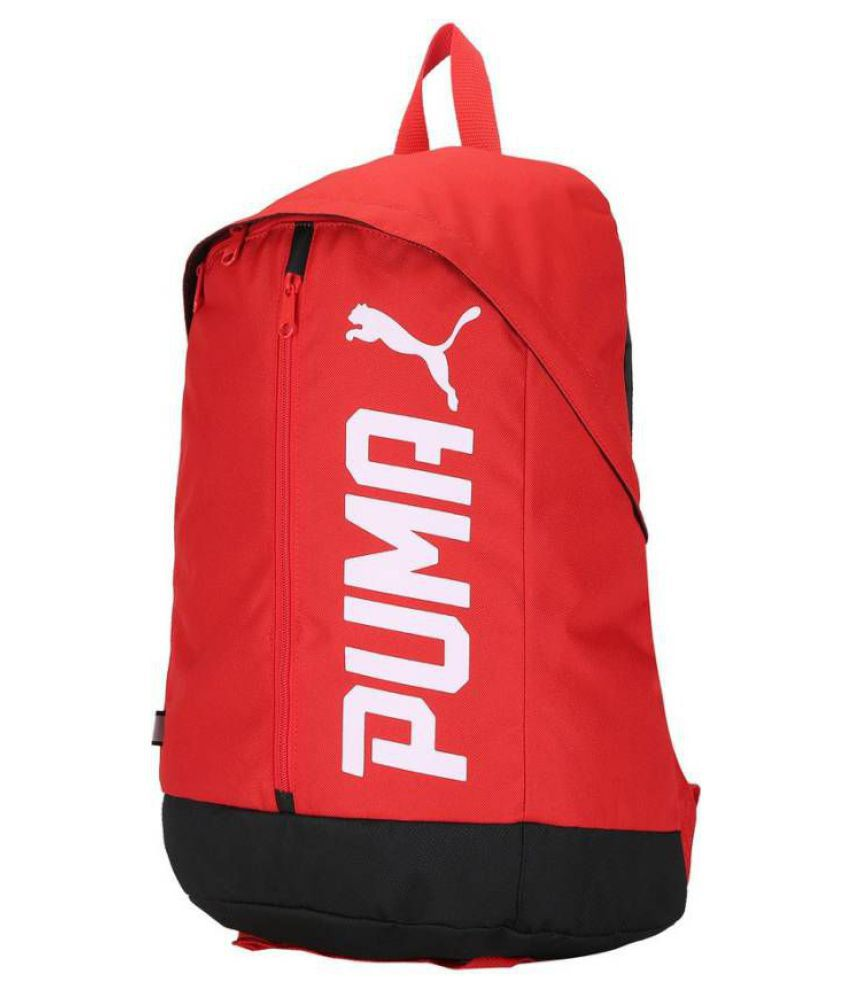 a72ea0ebed Puma Pioneer II Red Canvas College Bags Backpacks- 20 Ltrs - Buy ...
