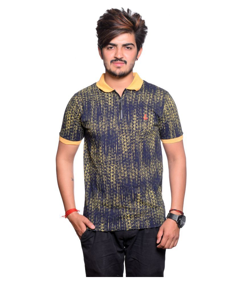 Maggivox Navy Regular Fit Polo T Shirt