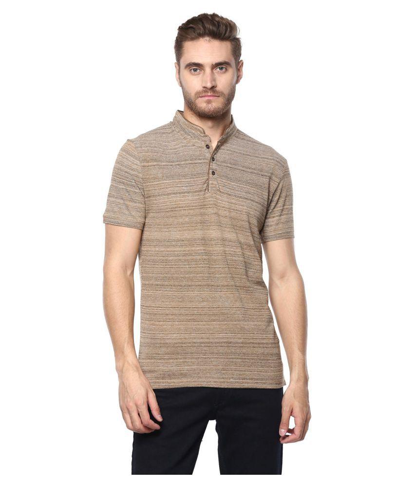 Octave Khaki Henley T-Shirt