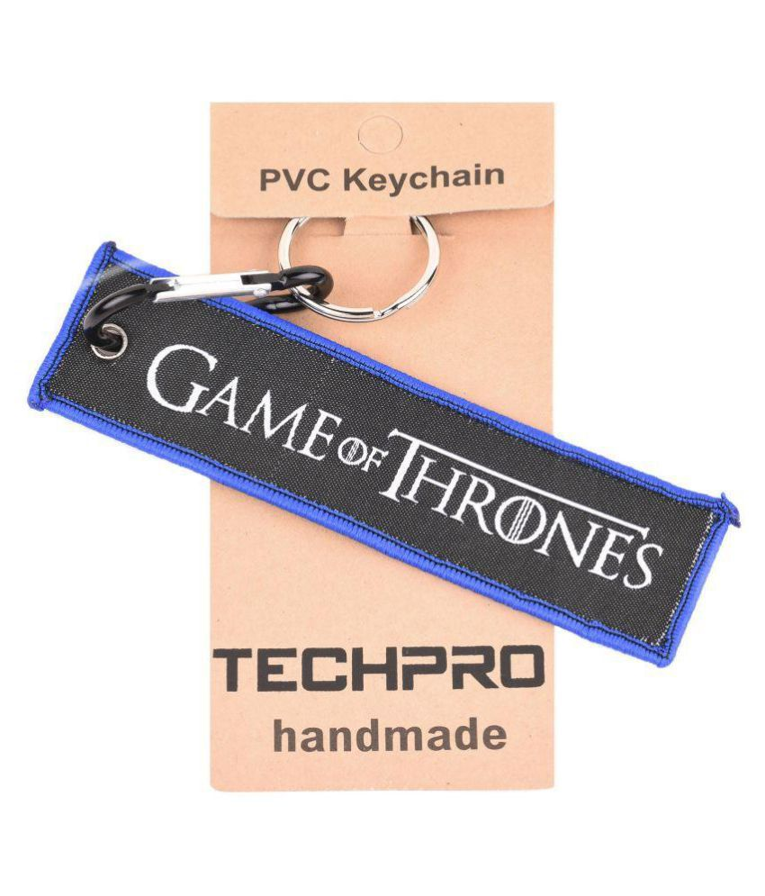 Techpro Fabric Locking Keychain with Doublesided Game of Thrones Blue Design
