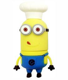 Microware Minion Chef Shape 8GB USB 2.0 Fancy Pendrive Pack of 1