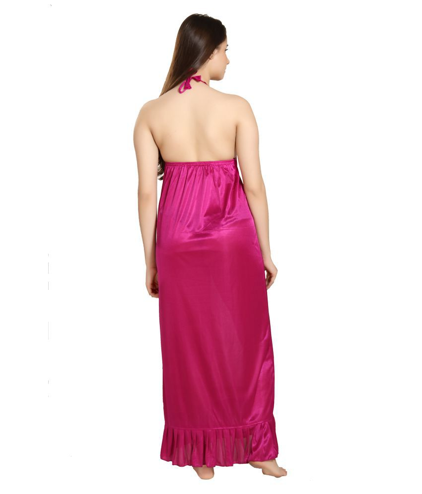 aa33e0bd0 Buy Reposey Satin Night Dress - Purple Online at Best Prices in ...