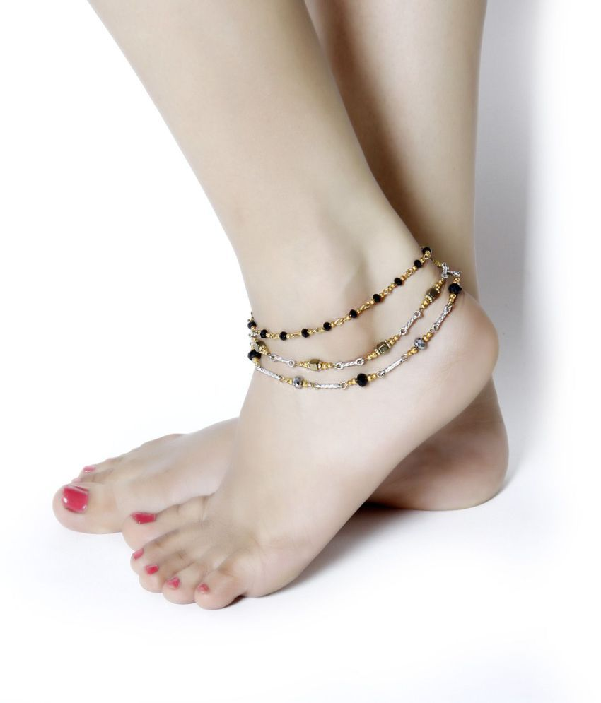 Zurii Gold Rodhium Plated Anklet