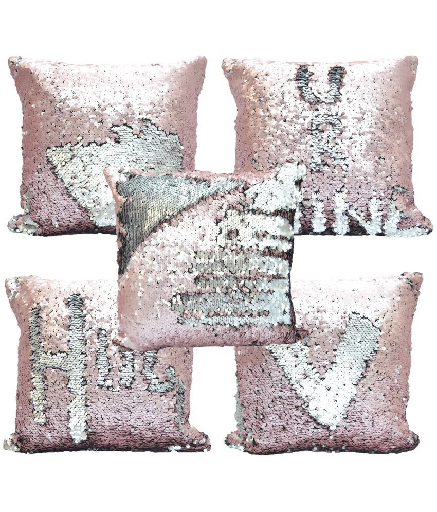 meSleep Set of 5 Blends Cushion Covers 40X40 cm (16X16)