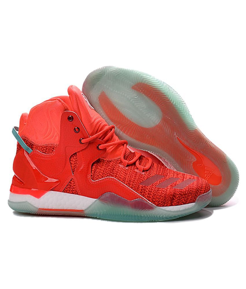 Red Shoes Adidas Primeknit 7 Basketball D Rose rxeBdCo