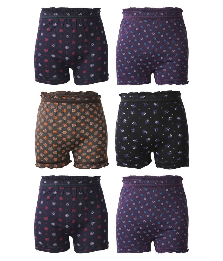 Bodycare Printed Unisex Bloomer Pack of 6