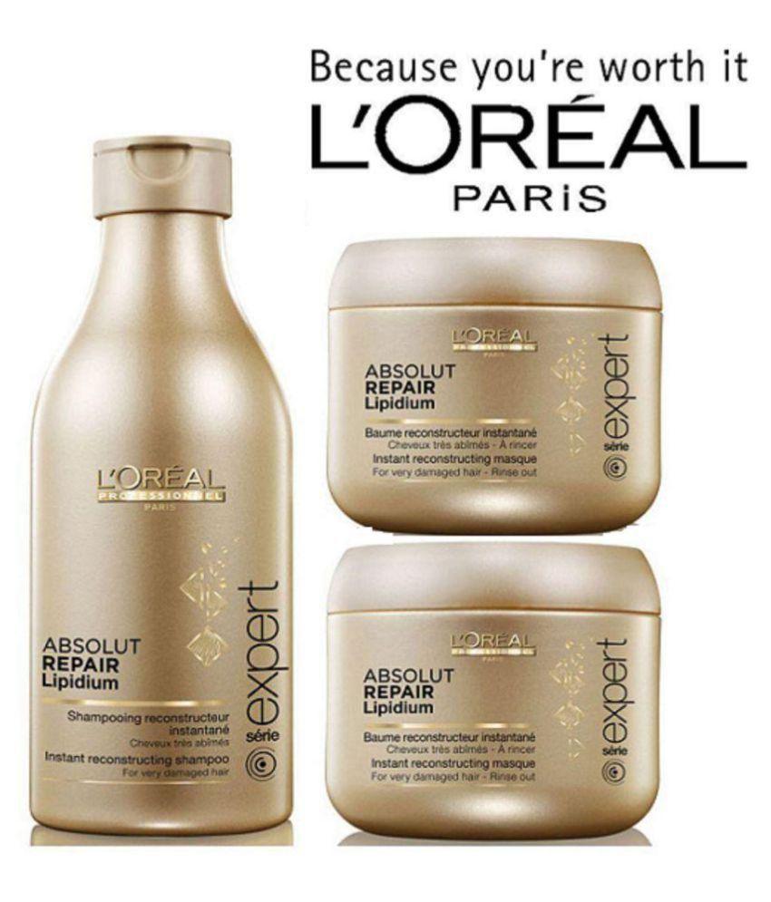 d5656503d L'oreal Professional Absolut Repair Lipidium Shampoo & Masque Shampoo 250  ml Pack of 3: Buy L'oreal Professional Absolut Repair Lipidium Shampoo &  Masque ...