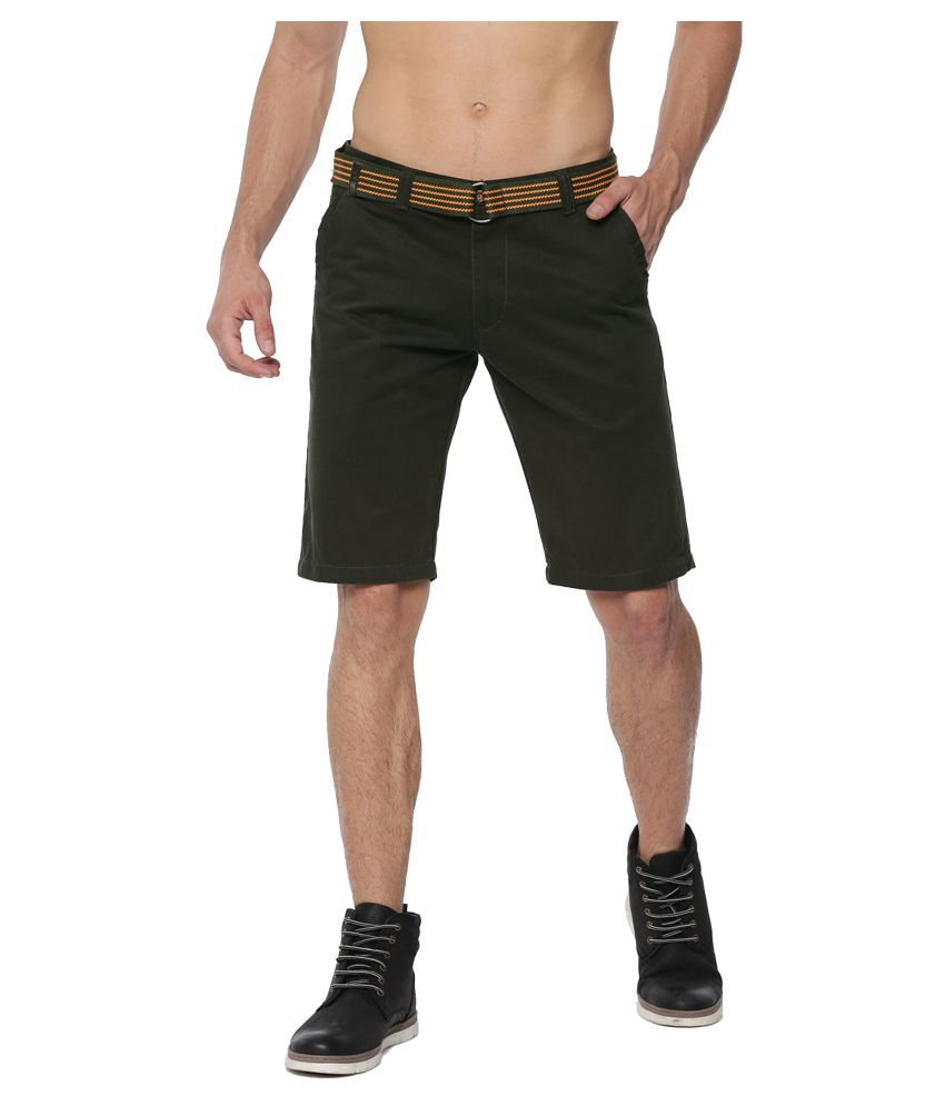 FIFTY TWO Green Shorts