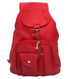 Bizarre Vogue Stylish College Bags Backpacks For Women & Girls (Red, BV895)