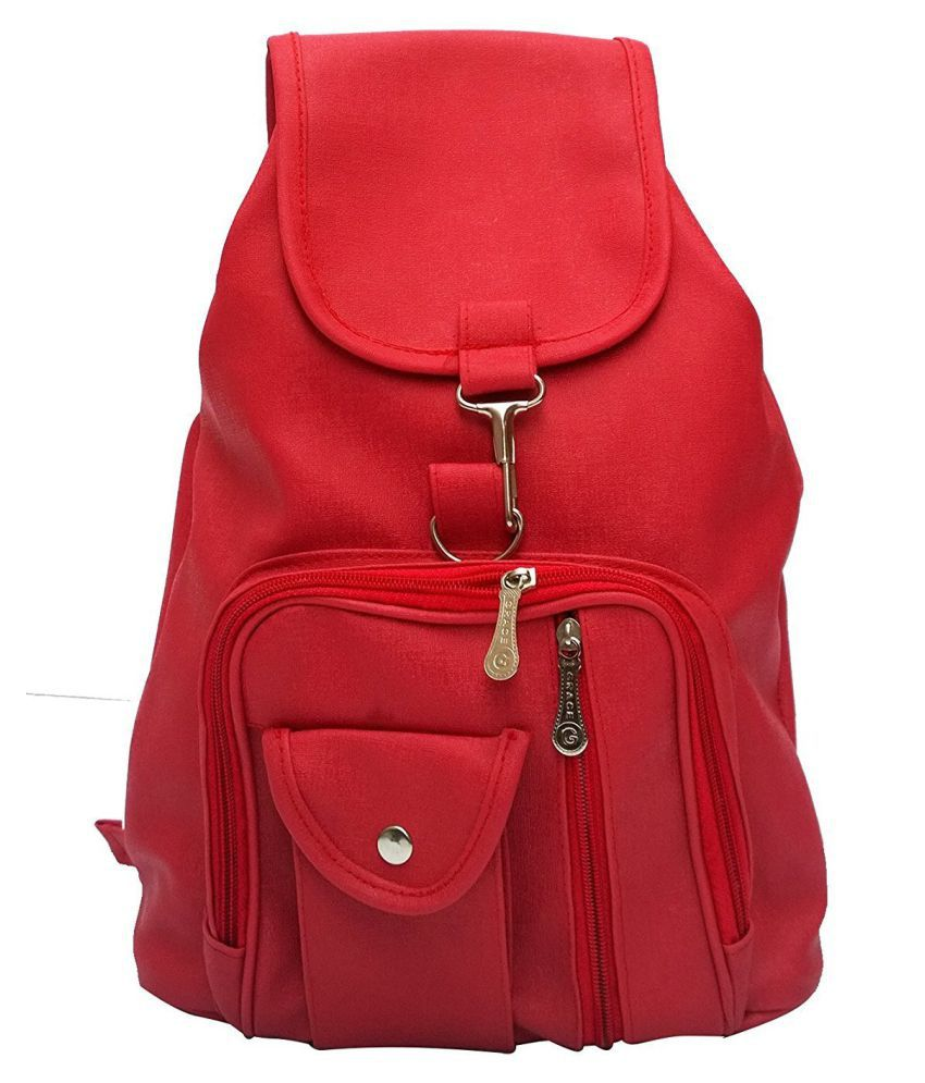 0e9e3e703 Bizarre Vogue Stylish College Bags Backpacks For Women   Girls (Red ...