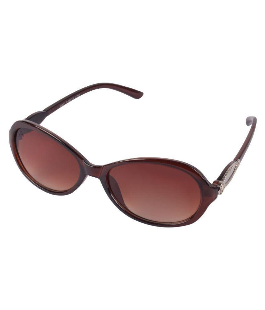 Criba Brown Cat Eye Sunglasses ( CRLK02 )