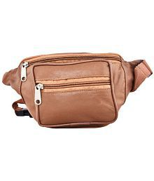 Aspen Leather Tan Waist Bag for Travelling