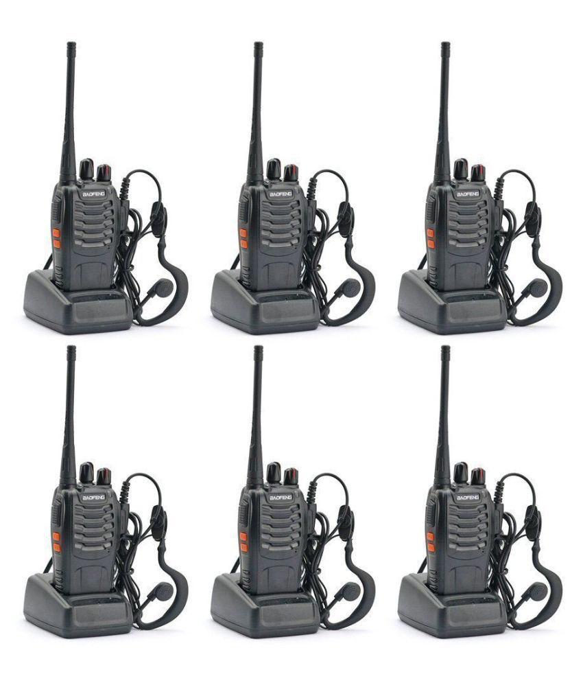 Baofeng BF-888S UHF 400-470MHz 16CH CTCSS/DCS With Earpiece Handheld Amateur Radio Walkie Talkie 2 Way Radio Long Range, Black (6 Pack)
