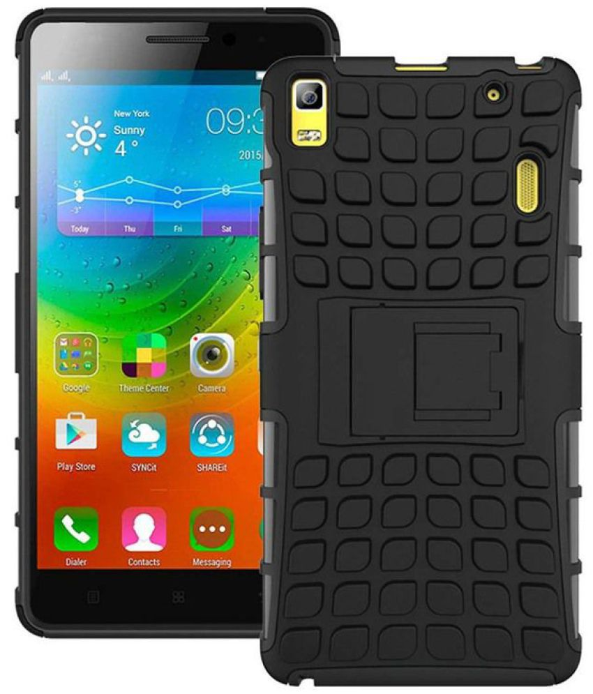 Lenovo K3 Note Cases with Stands Bright traders - Black