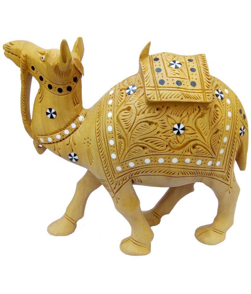 MK HANDICRAFT Multicolour Wood Handicraft Showpiece - Pack of 1