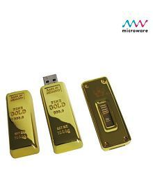 Microware Goldern Biscuit 16GB USB 2.0 Fancy Pendrive Pack of 1