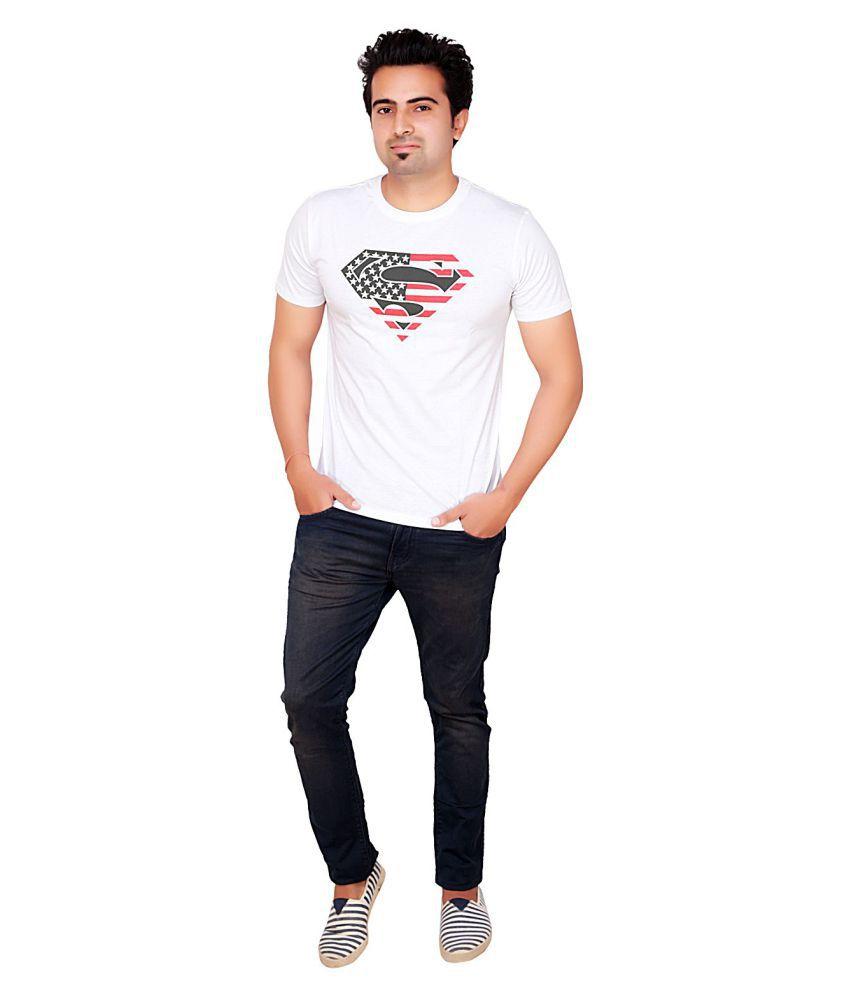 AUTHEN White Round T-Shirt