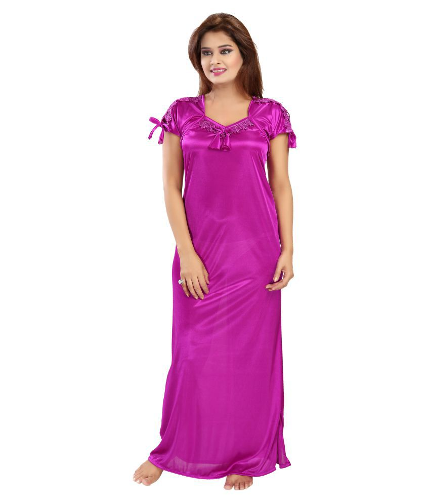 Shopping World Satin Nighty & Night Gowns - Pink