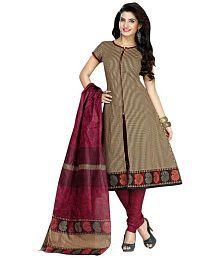 Shaily Beige Cotton Dress Material