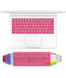 Masino Silicone Keyboard Cover Ultra Thin Keyboard Skin for Microsoft Surface Book (Silicon Keyboard Skin-Pink)