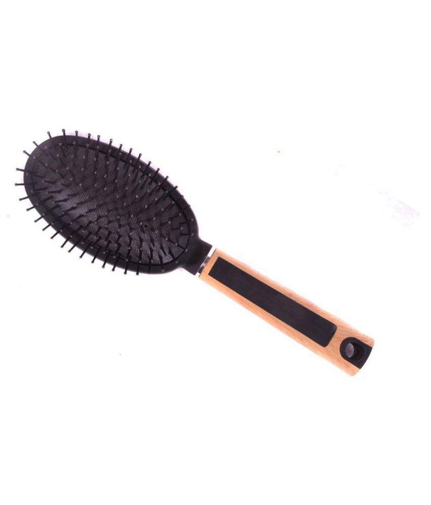 FOK Cushion Brush Oval Wood Handle Paddle Brush