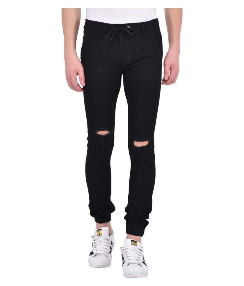Ansh Fashion Wear Black Regular Fit Jeans