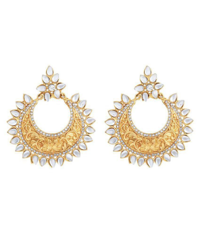 MFJ Fashion Jewellery Designer Collection Gold Plated Stylish Earring For Women