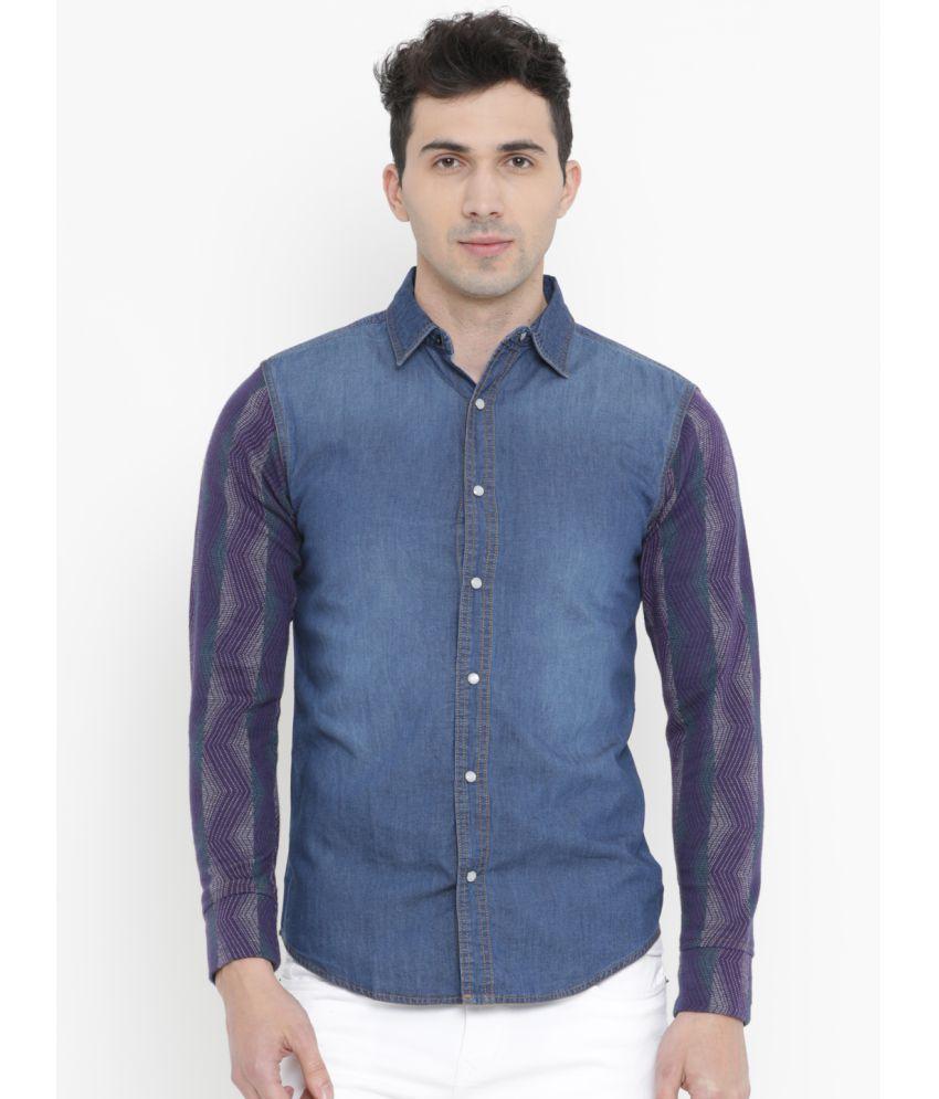 SHOWOFF Blue Slim Fit Shirt Single