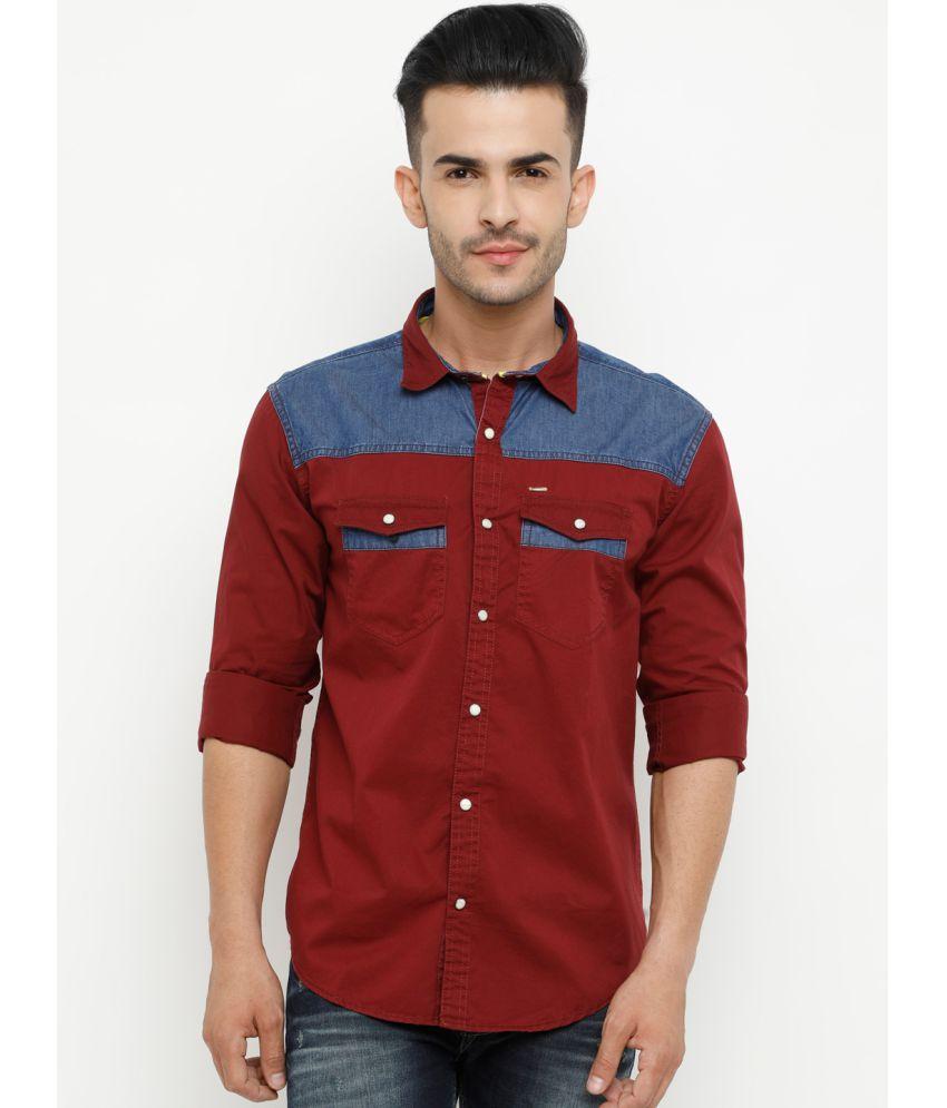 SHOWOFF Red Slim Fit Shirt Single