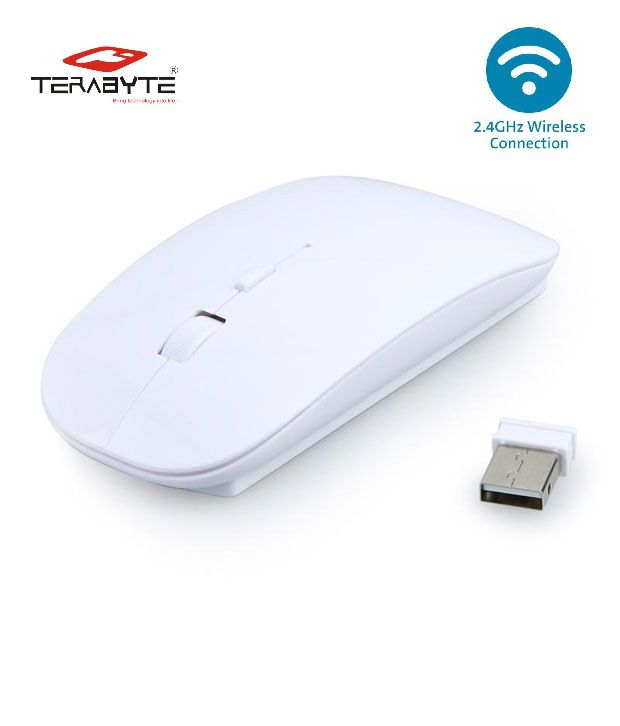 Terabyte 2.4 GHz Wireless Mouse White