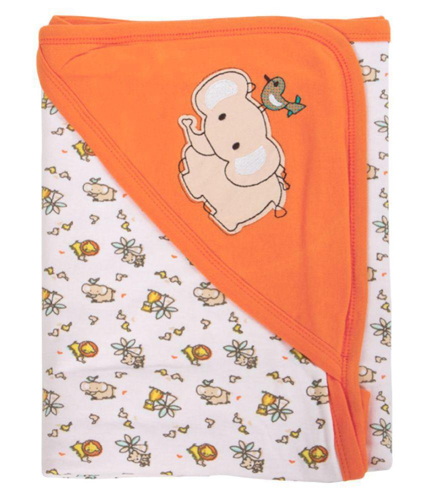 Mee Mee Multi-Colour Cotton Baby Wrap cum blanket ( 29 cm × 2 cm - 1 pcs)