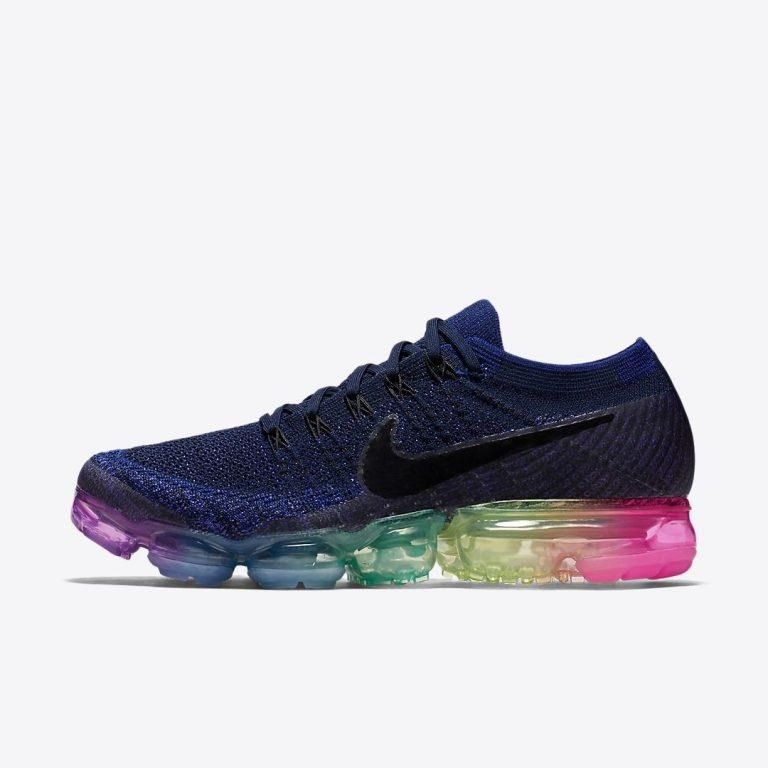 innovative design 66fa4 8e7c2 Nike AIR VAPORMAX FLYKNIT Navy Blue Training Shoes