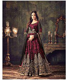 IndianEfashion Red Georgette Anarkali Semi-Stitched Suit