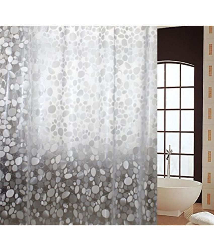 Khushi Creation Single Shower Curtain Offwhite Others