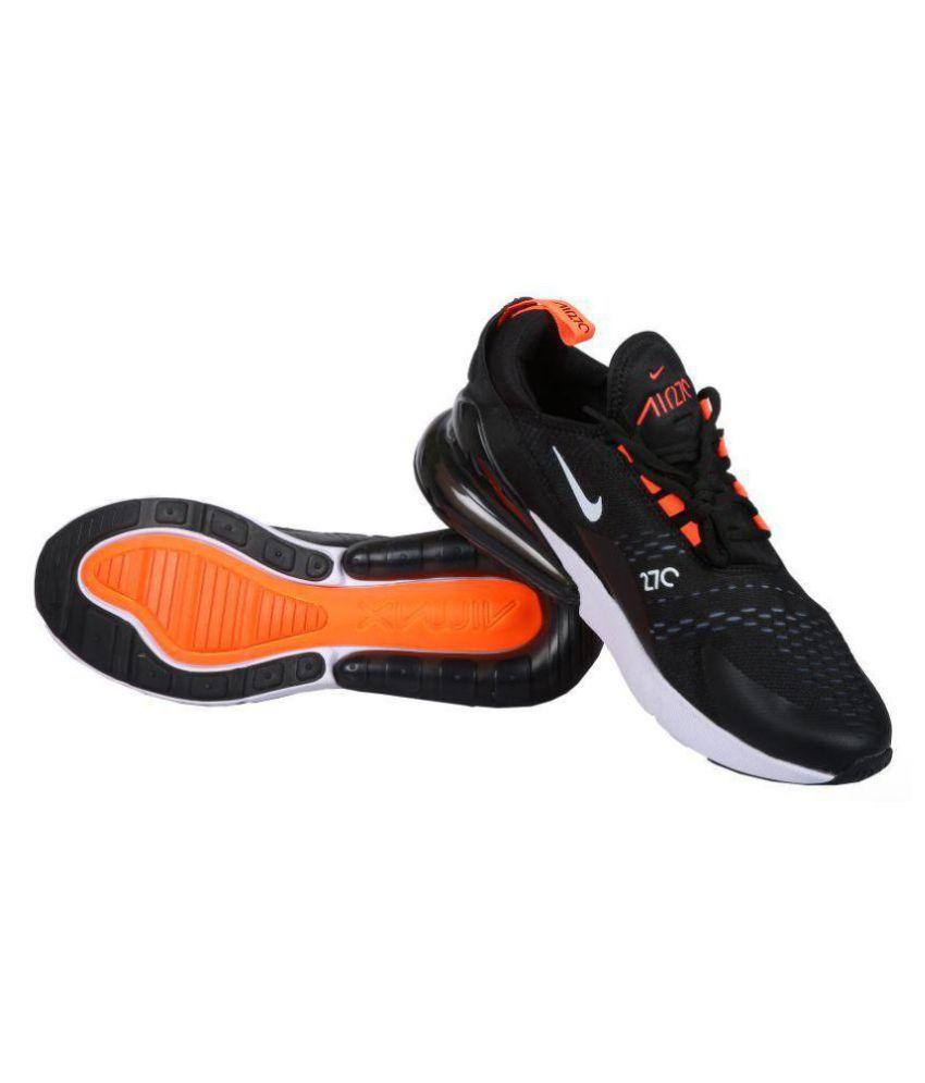 db48876a83 Nike AIR MAX 270 Flyknit Black Running Shoes - Buy Nike AIR MAX 270 ...