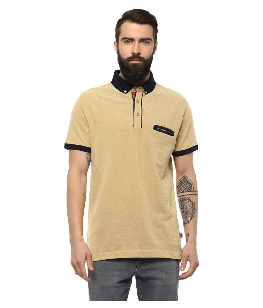AXMANN Yellow High Neck T-Shirt