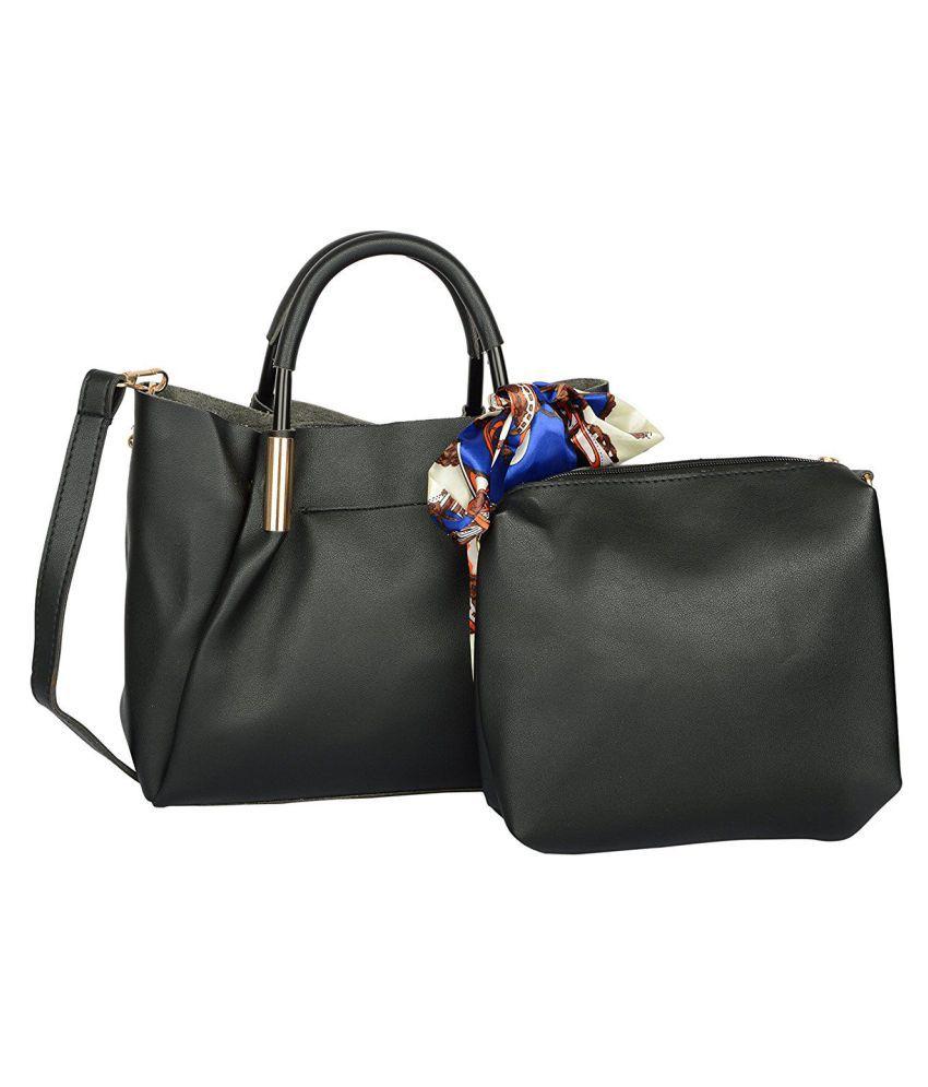 Advika Black P.U. Sling Bag