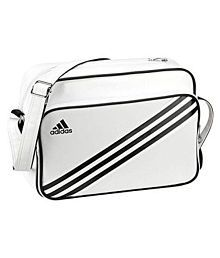 Adidas White P.U. Casual Messenger Bag