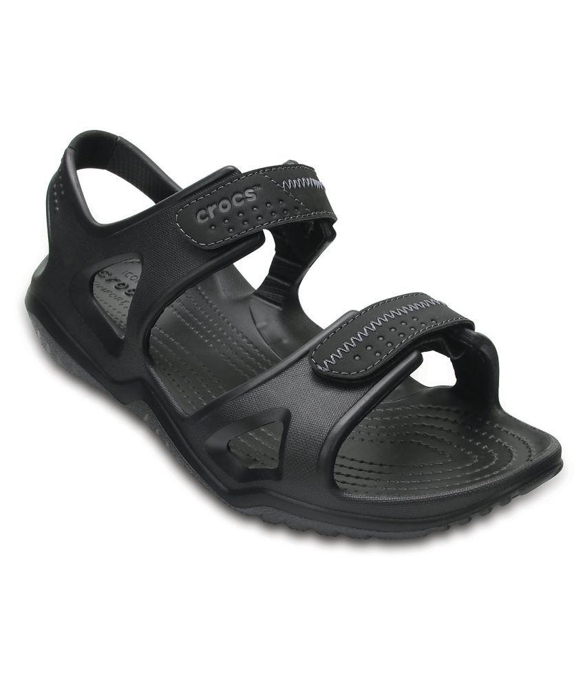 f78e9cba2a Crocs Swiftwater River Sandal M Black Sandals Price in India- Buy Crocs  Swiftwater River Sandal M Black Sandals Online at Snapdeal