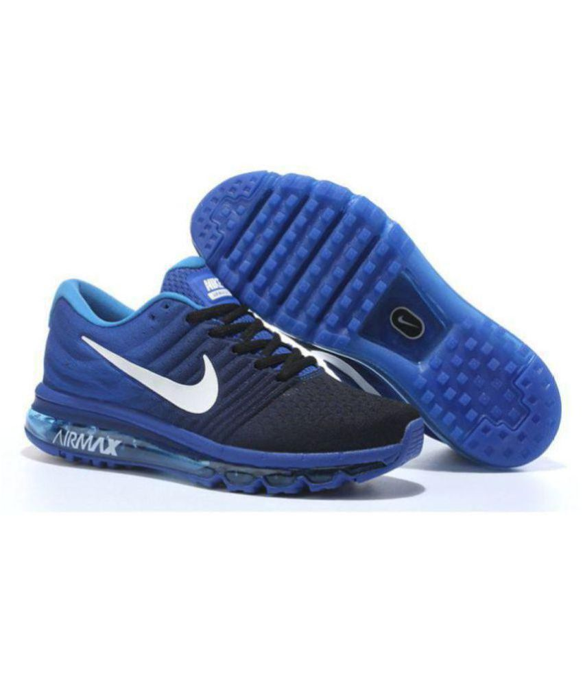 d24918597c33 Nike AIRMAX 2017 Blue Running Shoes - Buy Nike AIRMAX 2017 Blue Running  Shoes Online at Best Prices in India on Snapdeal