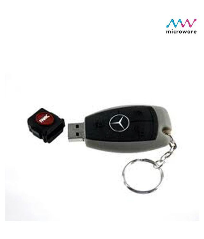 Microware Mercedes Benz Key Shape 16gb Usb 2 0 Fancy Pendrive Pack