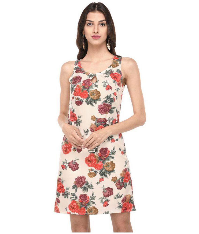 Purys Polyester Multi Color Bodycon Dress