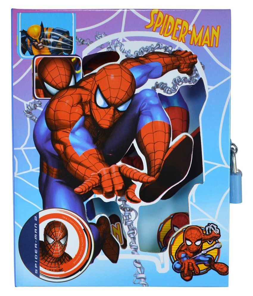 Aarvi Spiderman Character Diary With Personal Lock Journal Notebook Case And Key Birthday Return Gift For Kids Blue Buy Online At Best Price In