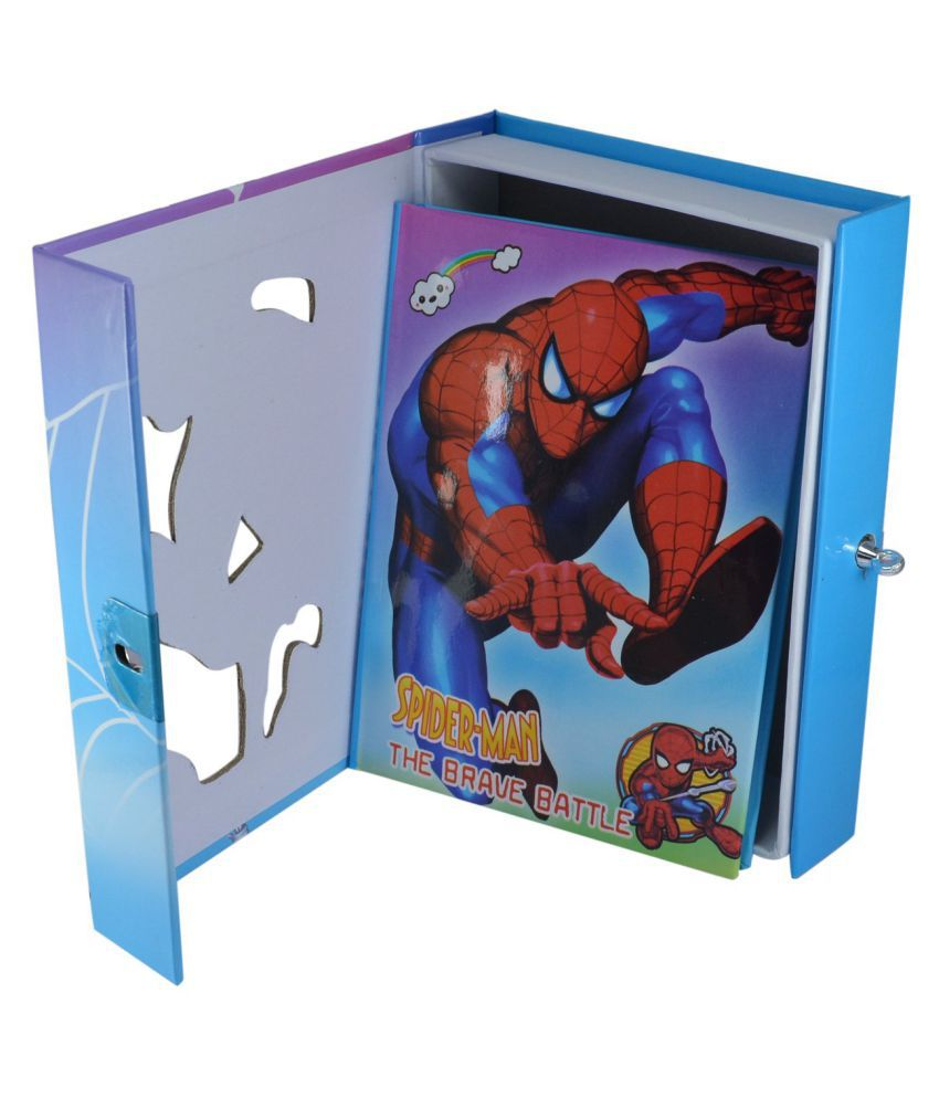 Aarvi Spiderman Character Diary With Personal Lock Journal Notebook Case And Key Birthday Return Gift