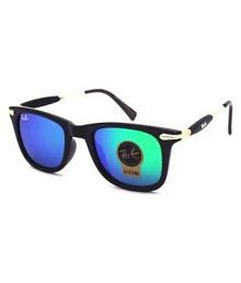 Ray Ban Avaitor Blue Aviator Sunglasses ( Double Shed Blue, Green Size : 58 )