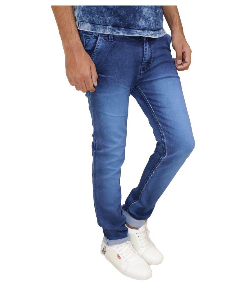 POOL CLUB Blue Slim -Fit Flat Chinos