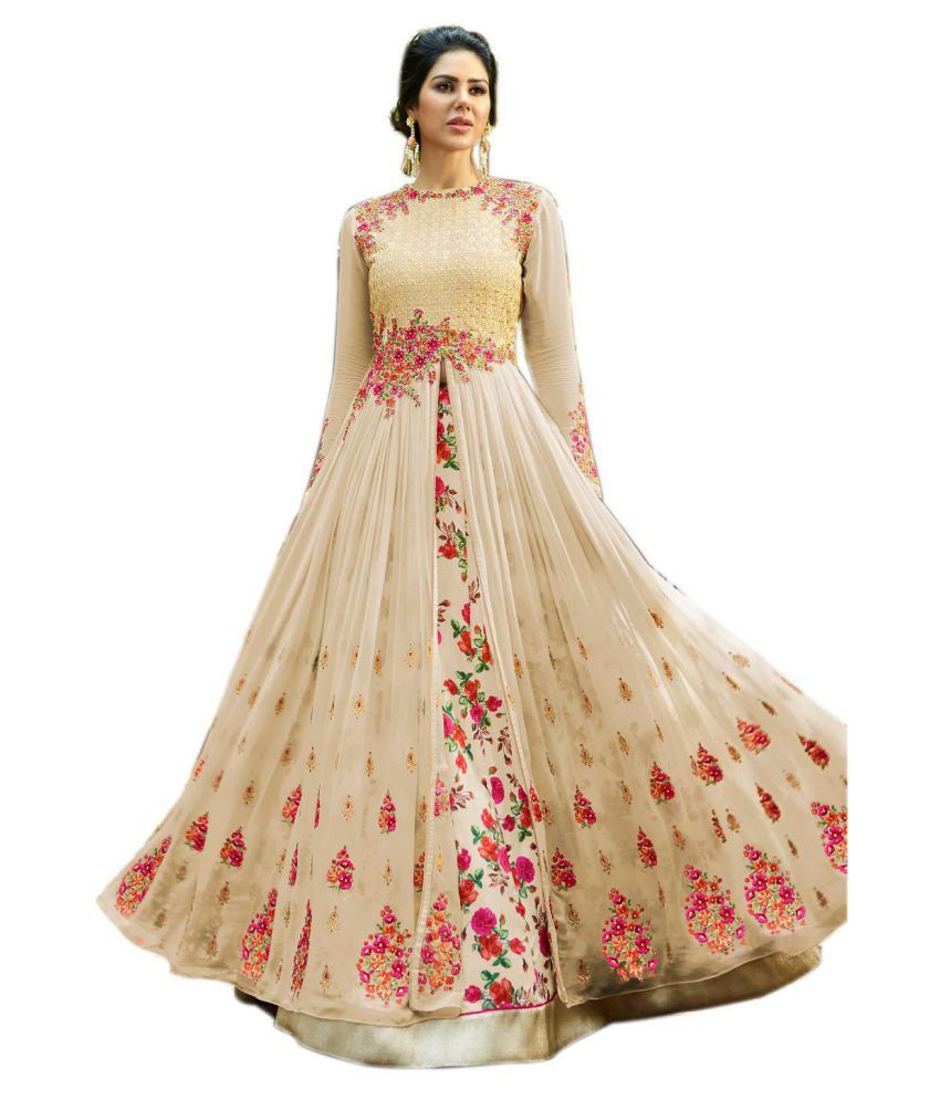 be223a30e089 ... Hevy Designer   Party Wear Long Gown For Girls All Occasion - Buy New  Pretty Beige Hevy Designer   Party Wear Long Gown For Girls All Occasion Online  at ...