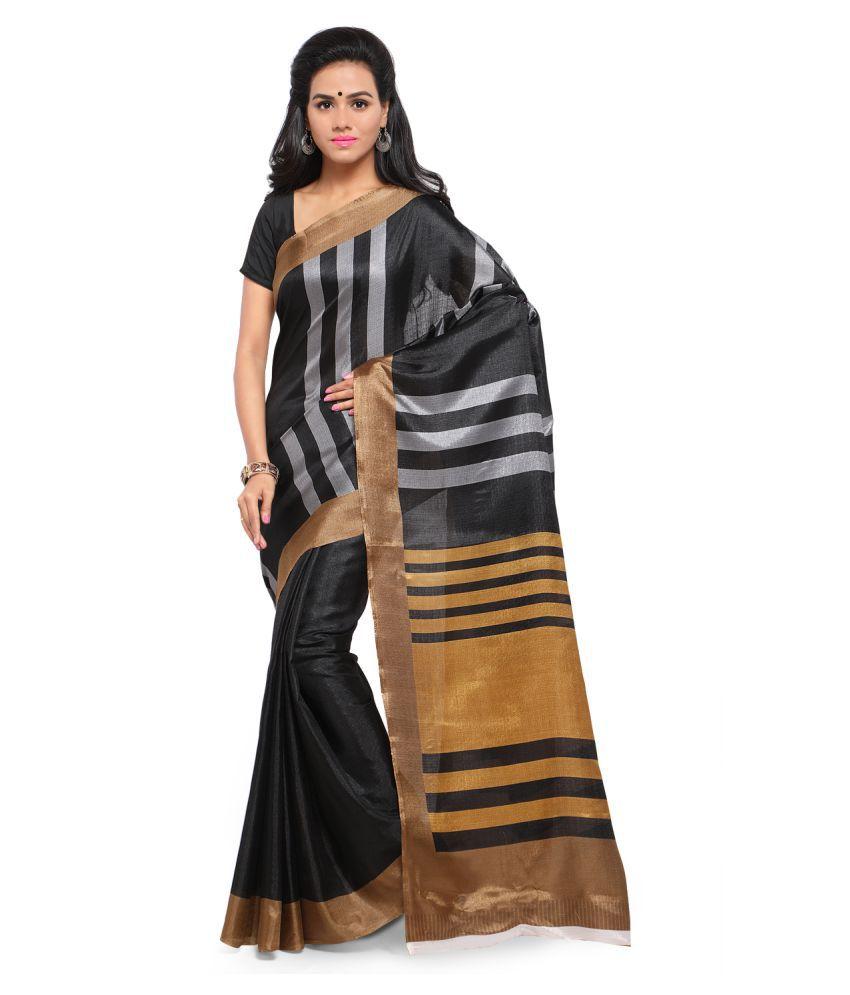 Aradhya Black Khadi Saree