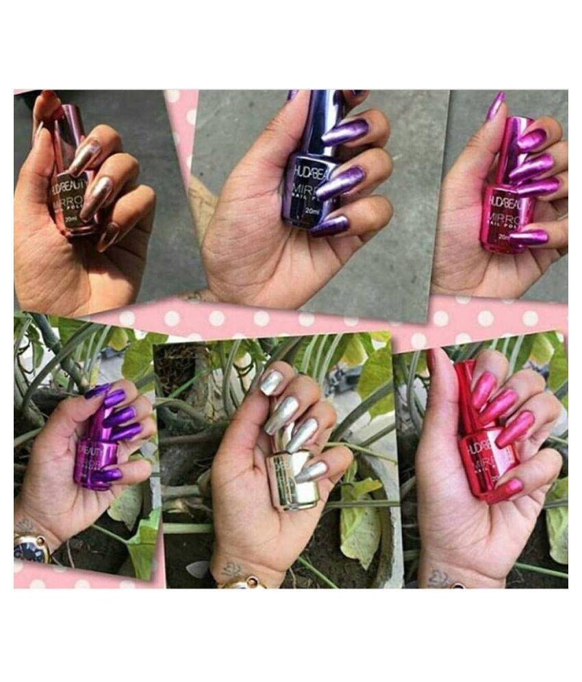 Huda Beauty Nail Polish Mirror Assorted Colors/ Shades- (Set of 3 ...